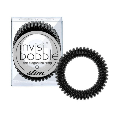 Invisibobble SLIM - True Black (3 Pieces)