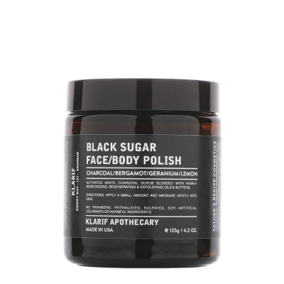 Klarif Black Sugar Face & Body Polish 125g