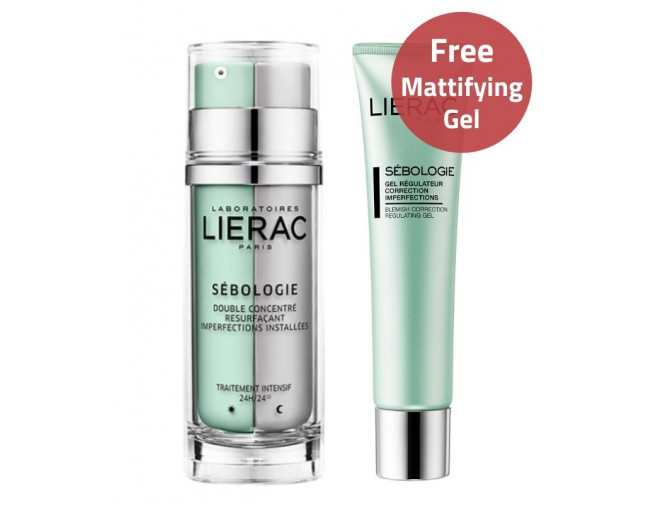 Lierac Sebologie Double Concentrate & Mattifying Gel Offer