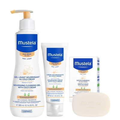 Mustela Nourishing Set with Cold Cream for Dry Skin