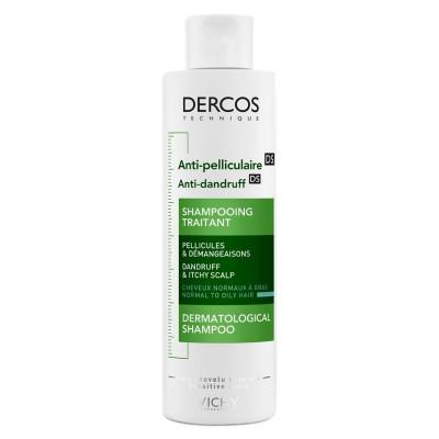 Vichy Dercos Anti-Dandruff Shampoo NORMAL to OILY Hair 200ml