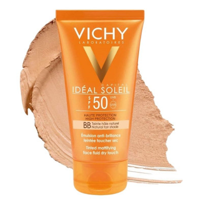 Vichy BB Tinted Mattifying Fluid Dry Touch Sunscreen SPF50 50ml