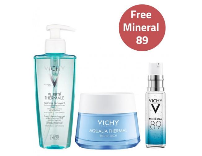 Vichy Hydration Essentials Set - Rich Cream