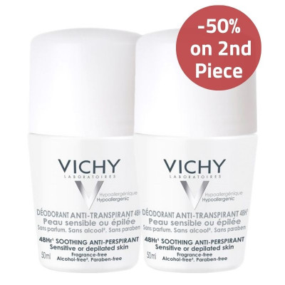 Vichy Sensitive Skin Anti-Perspirant Deodorant 50% on 2nd Piece