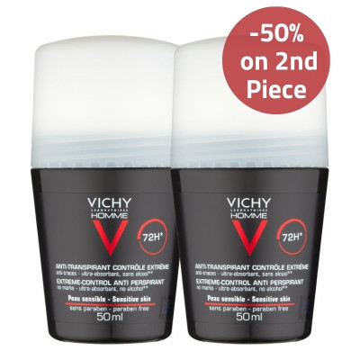 Vichy Men Intensive Anti-Perspirant Deodorant 50% on 2nd Piece Offer